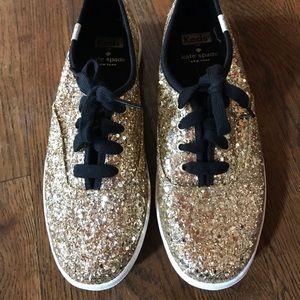 Keds Shoes - Kate Spade Gold Glitter Keds